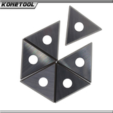 Tungsten Carbide Material Reversible Triangle Painting Scraper Knives