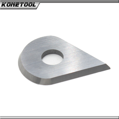 Tungsten Carbide Water-Drop Shape Carbide Scraper Blade Ø14.5x1.5mm - 25°
