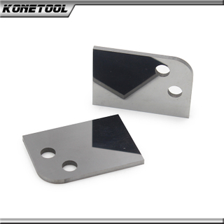 Arc-shaped Mirror Polished 2 Holes Solid Carbide Block